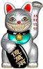 Platinum Lucky Cat Grin Grey