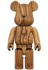 400% Mastermind Zebra Wood Bearbrick
