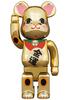 400% Maneki Neko Gold Fortune Gold Plating Be@rbrick