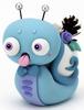 Blue Winter Lazyland Snail
