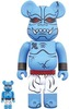 100% + 400% Blue Oniki Bearbrick (Set)