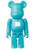 Teal Basic 'B' Bearbrick