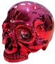 Rose Pink Chrome Skull Head
