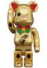 400% Maneki Neko Noboru Gold Plated Be@rbrick