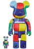 100% + 400% Multi-color Bandana Be@rbrick (Set)