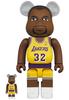 100% + 400% Magic Johnson : Los Angeles Lakers Be@rbrick (Set)