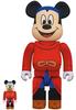 100% + 400% Fantasia Mickey Mouse Be@rbrick (Set)
