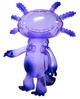 Clear Purple with Purple Metallic Spray