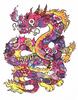 Tropical Doodle Dragon (Hand Embelished)