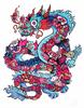 Icy Doodle Dragon (Hand Embelished)