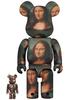 100% + 400% Mona Lisa : Leonard De Vinci Be@rbrick (Set)