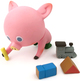 Pink Pig Drawing with Toys