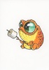 Original Marker Drawing Frog #12