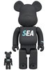 100% + 400% Wind and Sea ATMOS Bearbrick (Set)