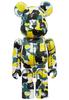 Green & Yellow Camo Bearbrick : A Bathing Ape 28th Anniversary