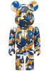 Blue & Orange Camo Bearbrick : A Bathing Ape 28th Anniversary