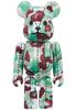 Green.& Red Camo Bearbrick : A Bathing Ape 28th Anniversary