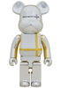 1000% Silver Chrome Medicom Toy Plus Bearbrick