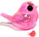 Clear pink sparkle holo flake Sofauxbi