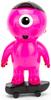 Tofu Kid Dark Pink & Skateboard Black
