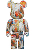 1000% Andy Warhol x Jean-Michel Basquiat #4 Bearbrick