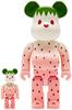 100% + 400% Snow Strawberry Summer Fruits Bearbrick (Set)