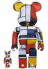 100% + 400% Piet Mondrian Bearbrick (Set)