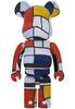 1000% Piet Mondrian Bearbrick