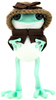 """5"""" Mint APO Frogs with Knitted Hat & Cape"""