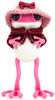 """5"""" Pink APO Frogs with Knitted Hat & Cape"""