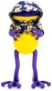 """5"""" Purple & Gold Hanbok Cape APO Frogs"""