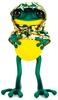 "5"" Green & Gold Hanbok Cape APO Frogs"