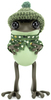 """5"""" Green APO Frog with Knitted Hat & Cape"""