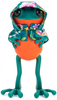 """5"""" Green APO Frogs with Hanbok Cape"""