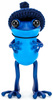 """5"""" Blue APO Frog with Knitted Hat"""