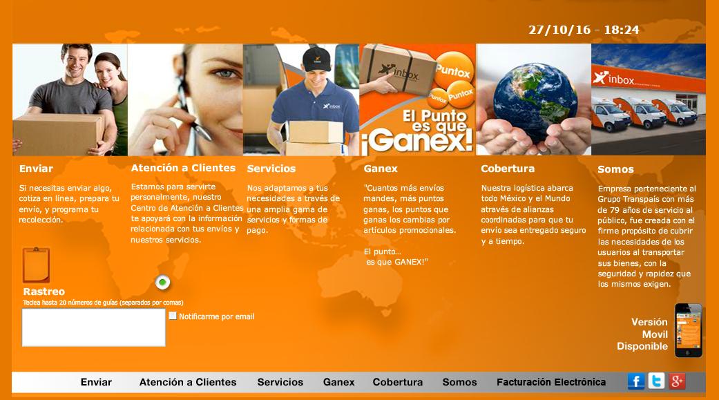 Inbox Paquetería Rastreo