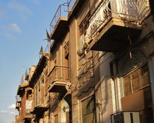 Art-Deco houses in Baghdad's Al-Bataween area