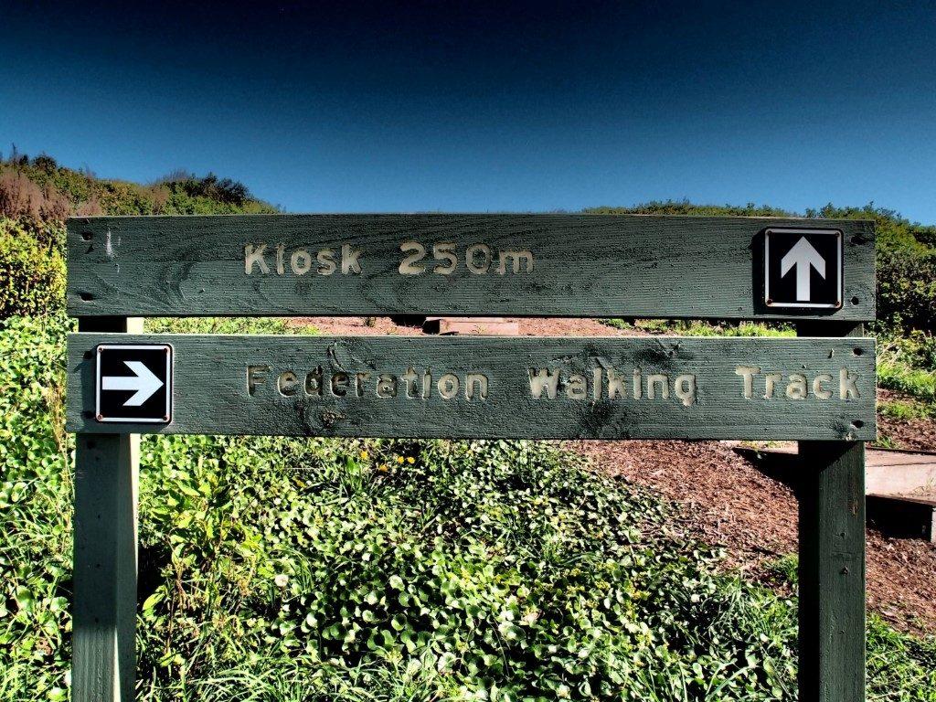 Killalea Beach Kiosk Sign