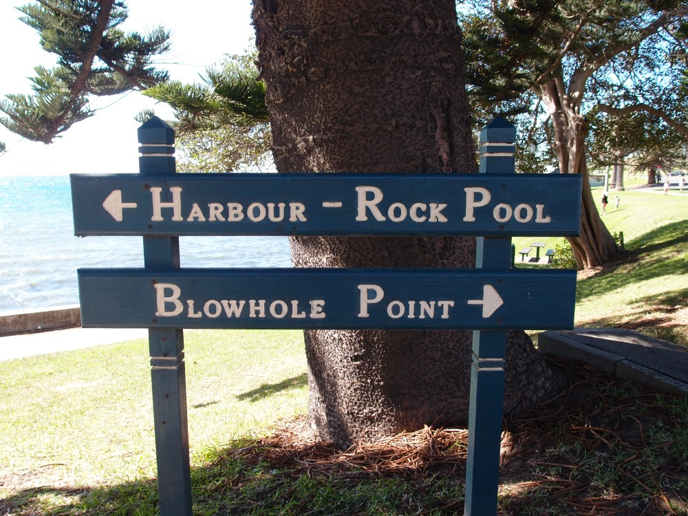 Kiama Blowhole Sign