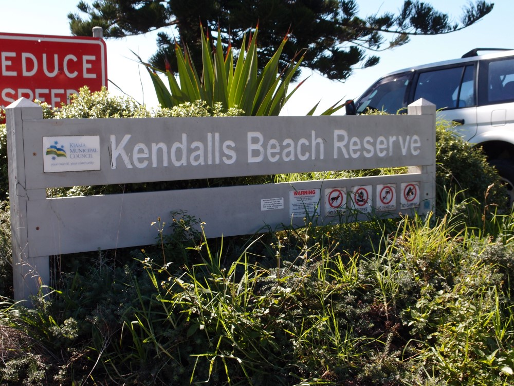 Kendalls Beach Reserve Sign