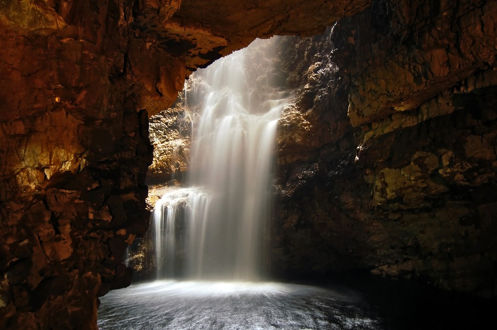 Bay of Smoo Cave Near Durness Scotland