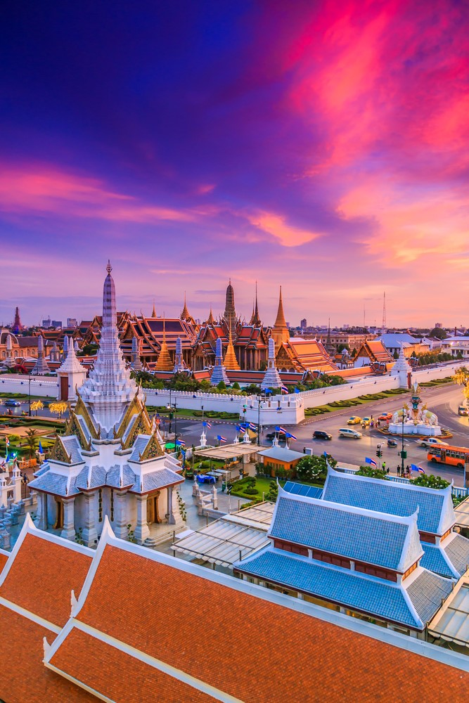 Warmest destinations Bangkok, Thailand