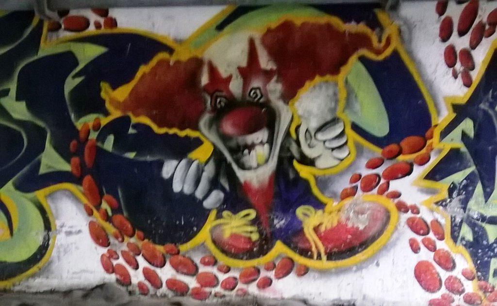 grafitti mont blanc tunnel