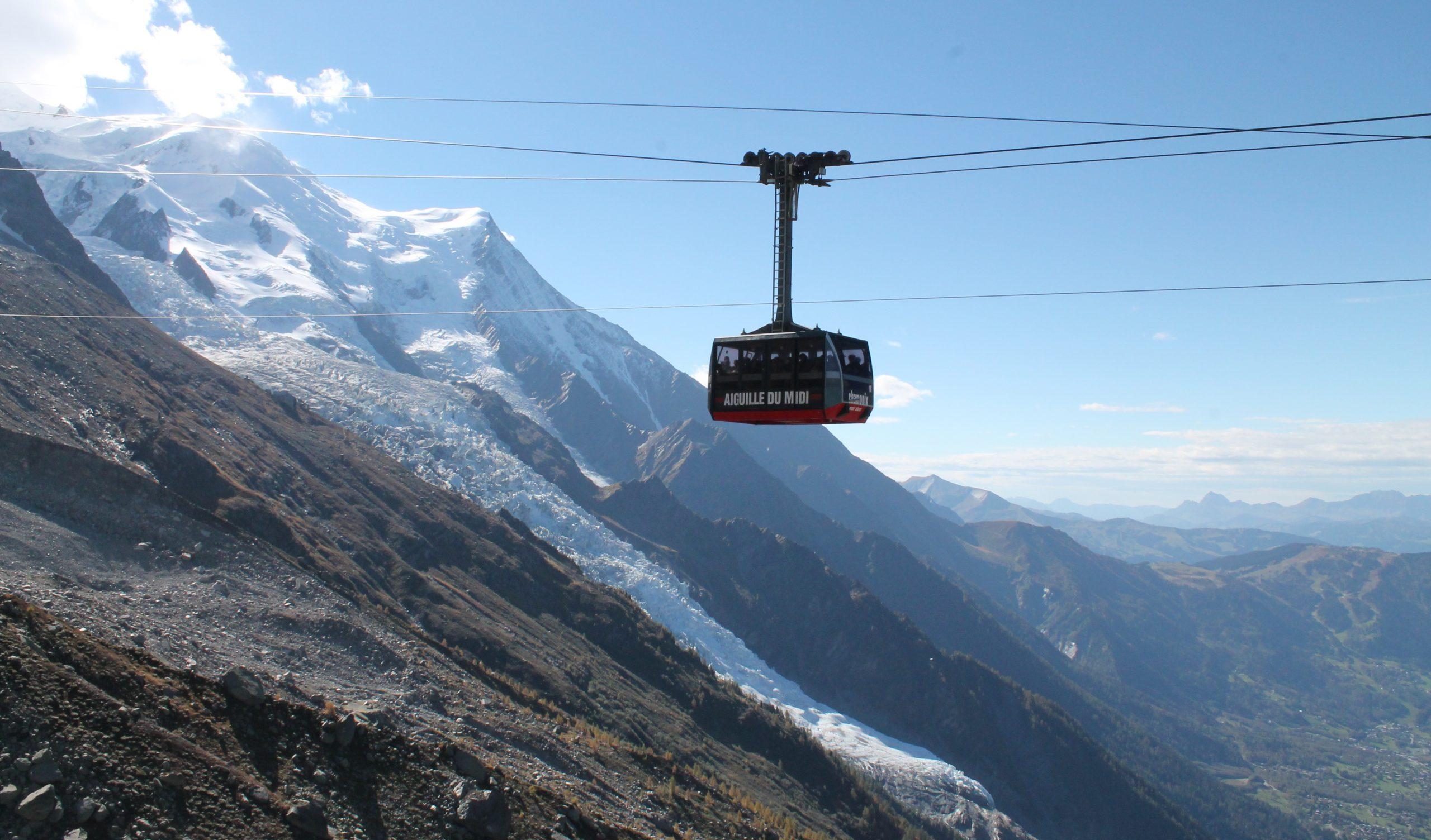 Aiguille du Midi, Plan de'l Aiguille and hiking back to Chamonix, France
