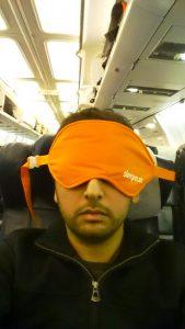 sleeper mask in plane zaid