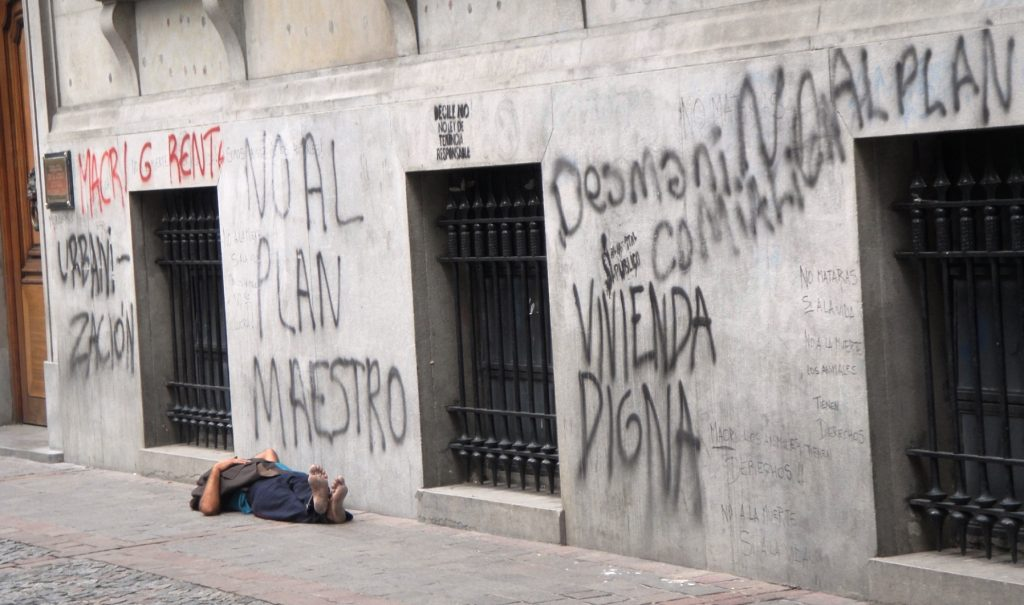 homeless guy buenos aires
