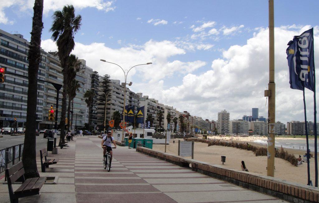promenade  Pocitos Beach in Montevideo