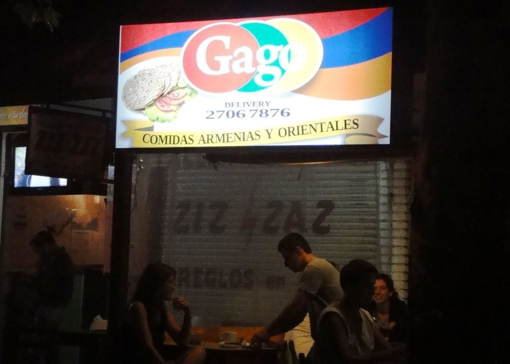 Gags halal near Pocitos Beach in Montevideo
