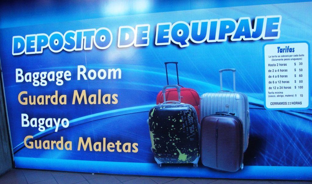 luggage storge colonia del sacramento bus station