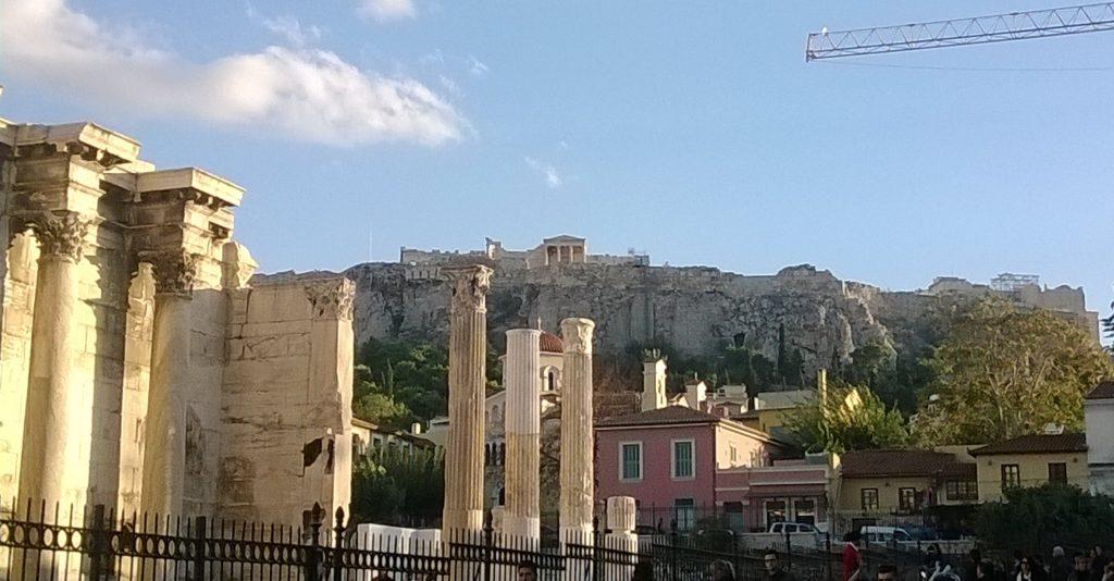acropolis from monastiraki